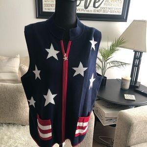 CJ Banks - Stars and Stripes Vest - Size Large